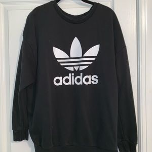 Black Adidas Originals Crewneck Sweatshirt SIZE L